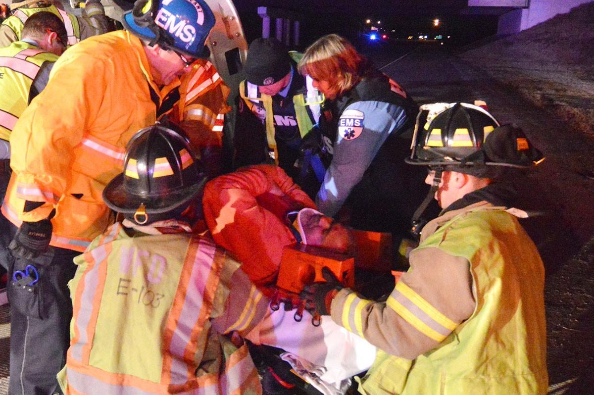 495 trucker injured