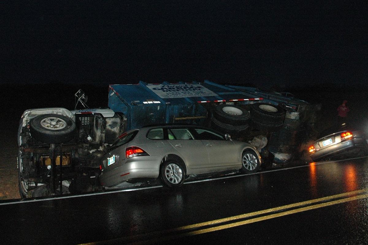 Andrews Lake Road trash truck