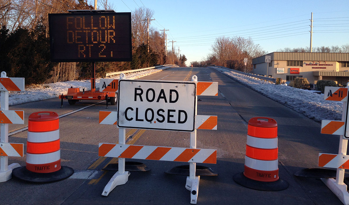 Elsmere bridge closed