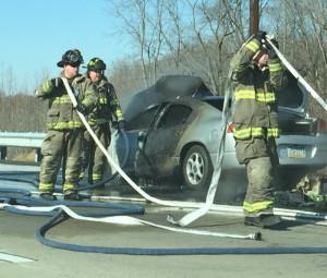 Car fire Citizens Hose