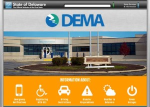 Delaware Emergency Management Agency new web page