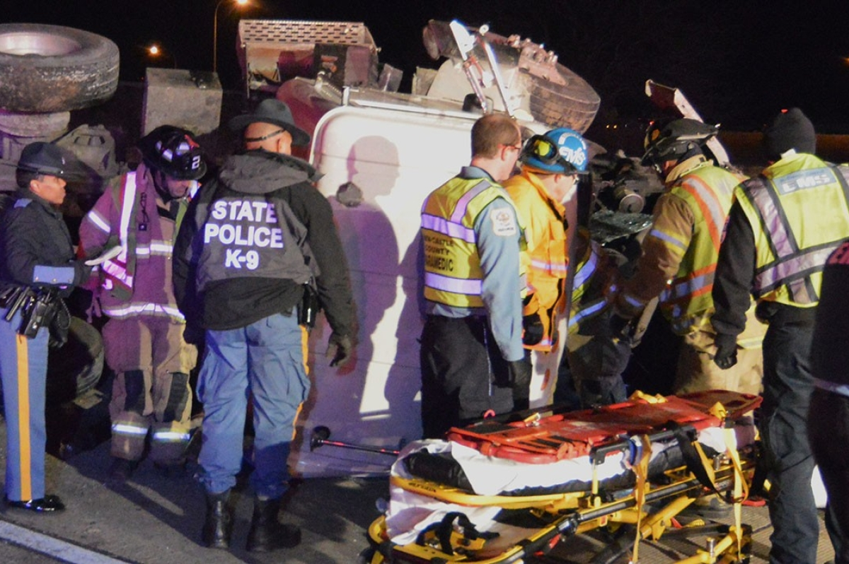 Dump truck crash trucker