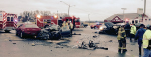 Fatal crash scene Tybouts