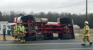 Propane truck crash near Greenwood, Delaware