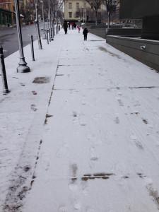 Snow in Elsmere, Delaware