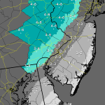 National Weather Service predictions for weekend snow in Delaware and nearby