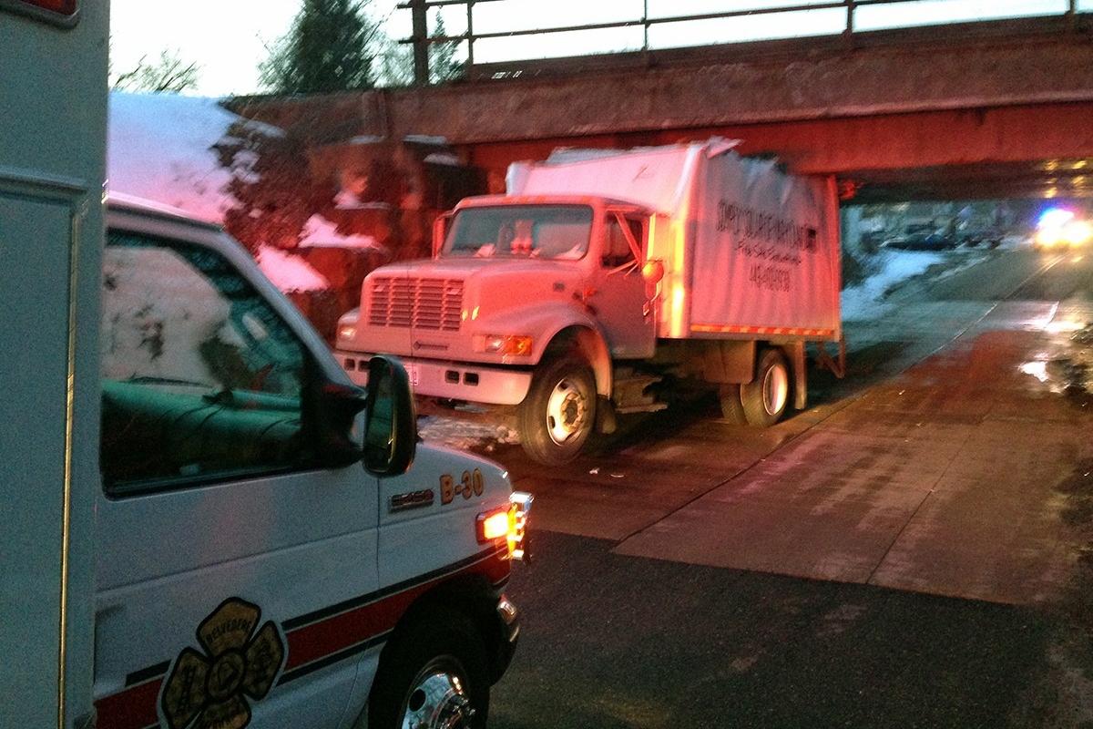 Stuck truck in Stanton