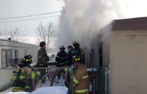 Mobile home fire (Photo: DFN)