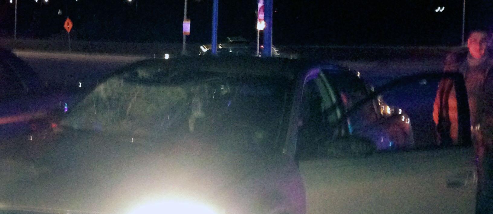 Accident scene on U.S. 40- near Route 1