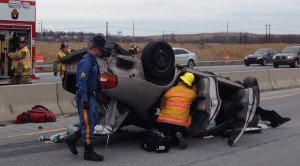 Wilmington I-95 rollover crash
