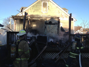 Fire on Harding Avenue in Silview