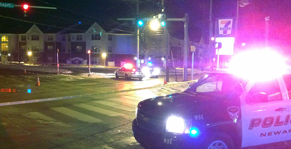 Scene of fatal pedestrian accident in Newark (Photo: DFN)