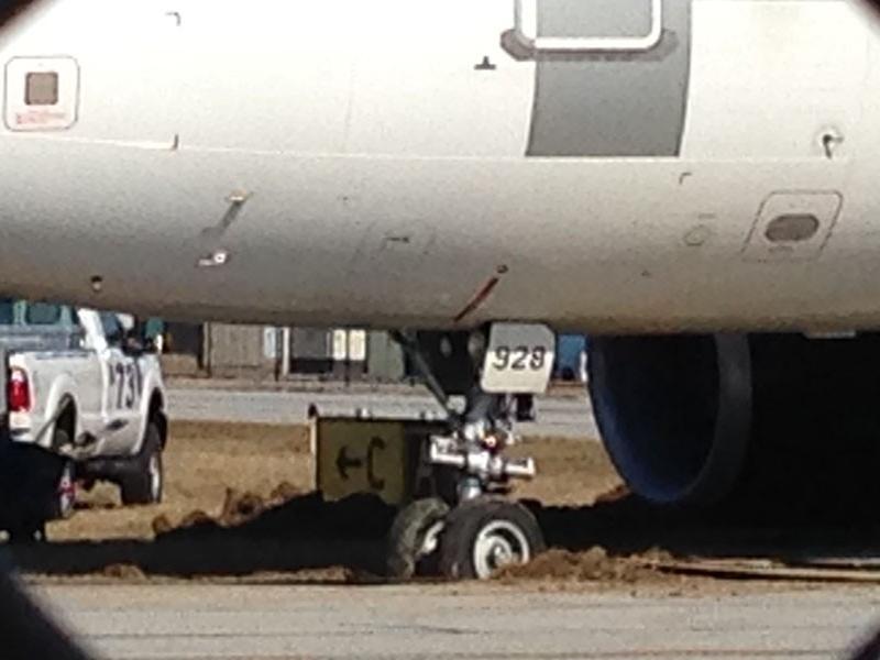 Plane stuck