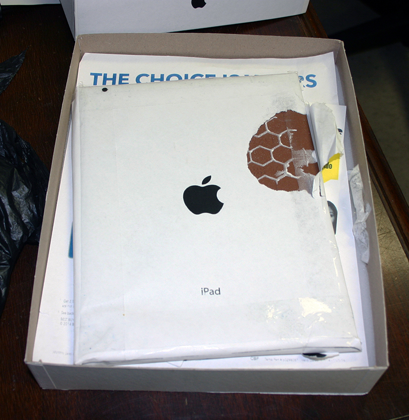 iPad Air 2 scam box