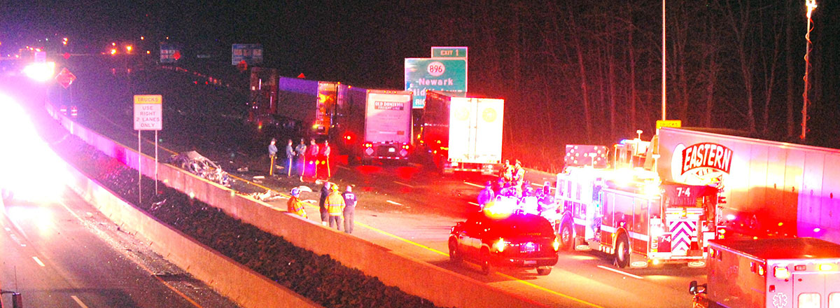 1 dead in fiery wrong-way crash on NB I-95 – Delaware Free News
