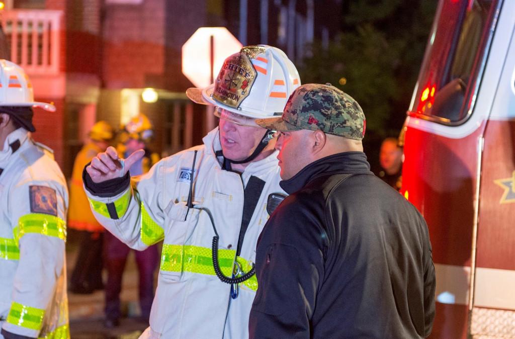 Firefighters at 2410 N. Tatnall St.