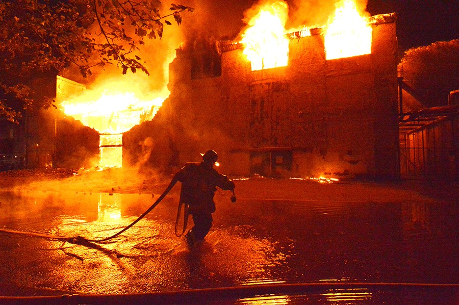 Bancroft Mills fire 5