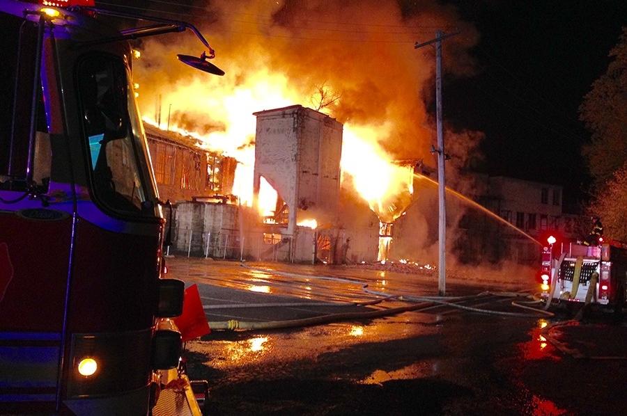 Bancroft Mills fire