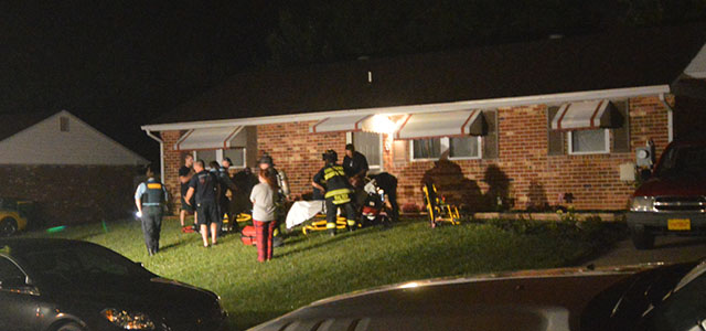 Emergency crews treat people at home in first block of Topaz Drive in Bear. (Photo: Delaware Free news)