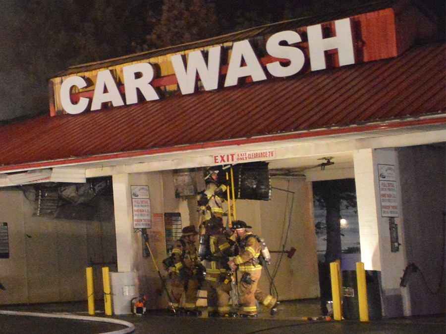 Car wash: Fire at 1921 Pulaski Highway in Bear (Photo: Delaware Free News)
