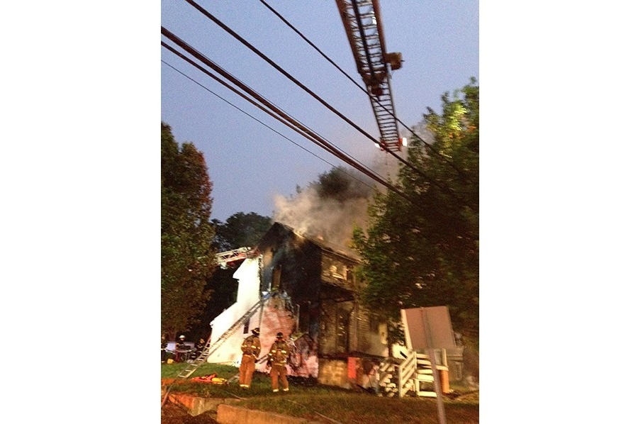 Fire on North Old Baltimore Pike in Christiana (Photo: Delaware Free News)