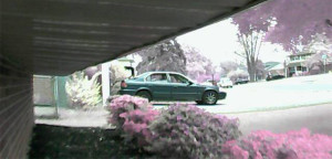 Police released this surveillance image of car connected with theft of copper pipe from Meadowood home. (Photo: NCCPD)