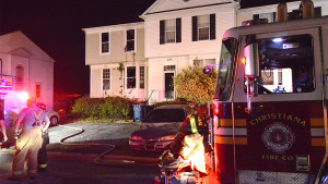 Fire hit end unit on Feather Drive. (Photo: Delaware Free News)