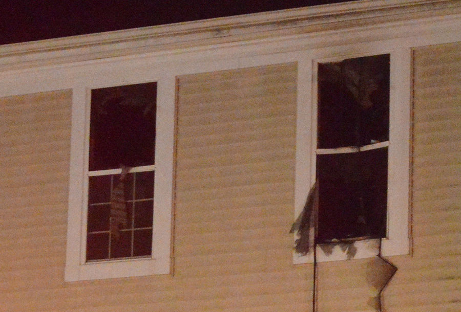 Victim was pulled from second floor of town house. (Photo: Delaware Free News)