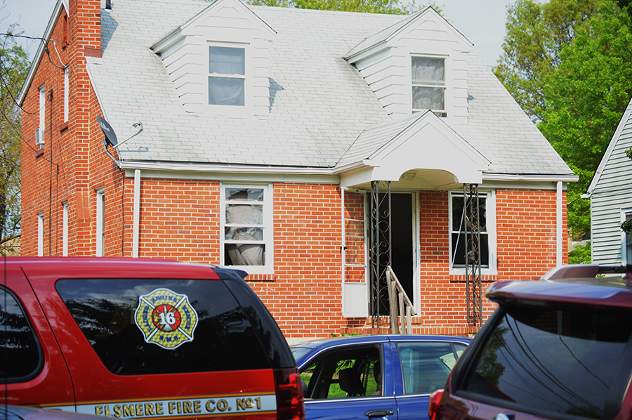 Firebombed home in Elsmere (Photo: Delaware Free news)