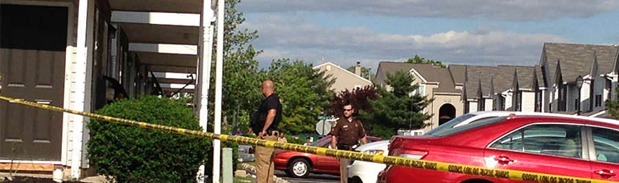Police investigate after fatal shooting on Antlers Lane in Fox Run townhome community. (Photo: Delaware Free News)