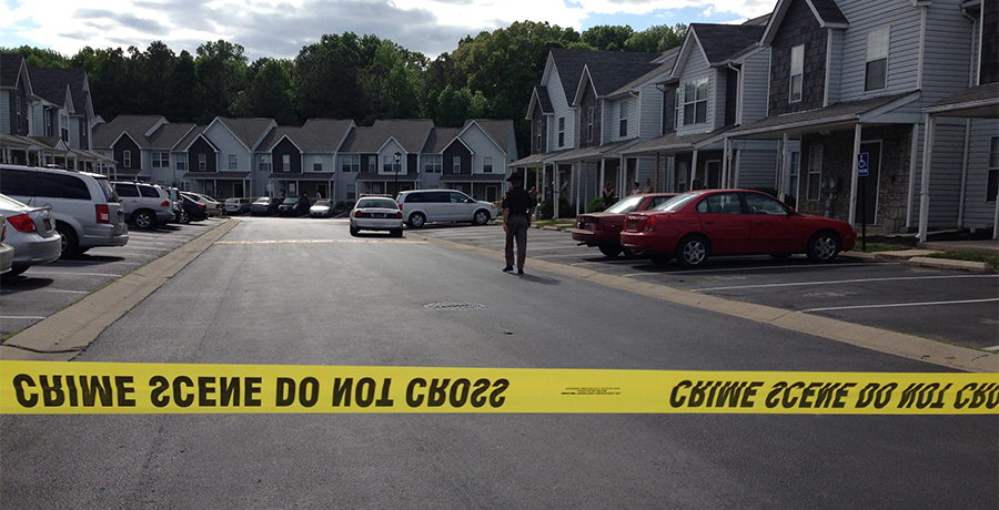 Shooting scene on Antlers Place in Fox Run community. (Photo: Delaware Free News)