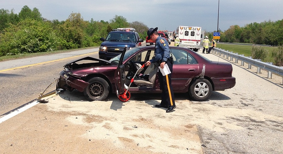 Crash on Interstate 295 ramp to Interstate 95 (Photo: Delaware Free News)