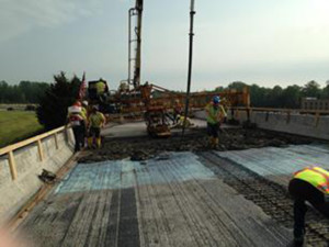 Work is underway on the northbound U.S. 113 overpass to northbound Route 1 at the north end of Milford. (Photo: DelDOT)