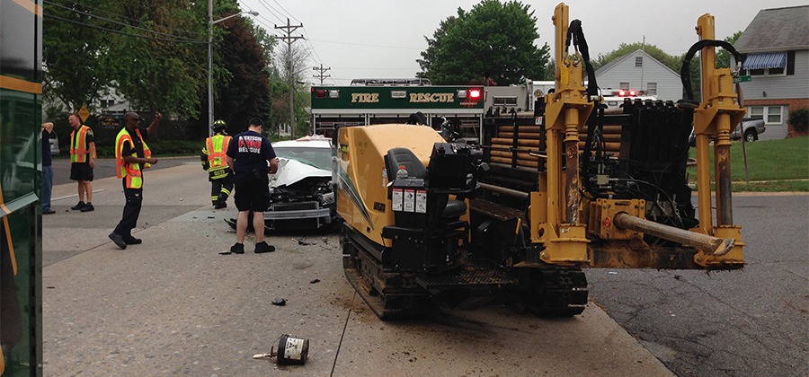 Acident scene on Milltown Road (Photo: Delaware Free News)