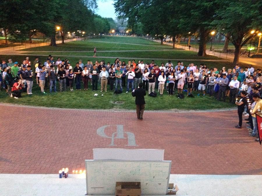 Nepal vigil at University of Delaware (Photo: Delaware Free News)