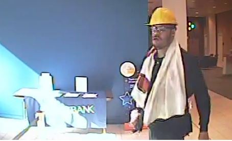 Surveillance image from PNC Bank robbery released by Wilminigton police.