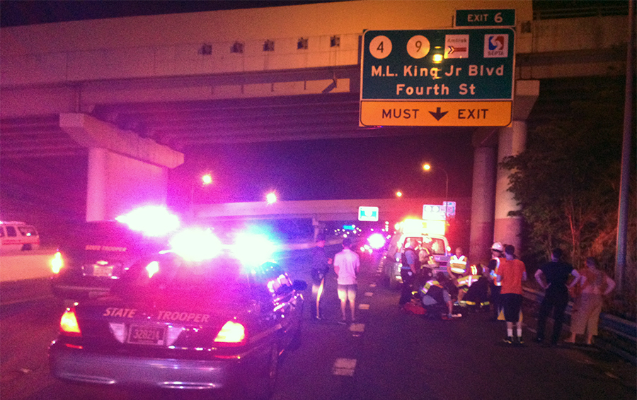 Scene of pedestrian fatality on Interstate 95 in Wilmington. (Photo: Delaware Free News)