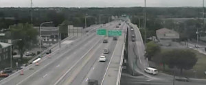 Route 141 at the Newport viaduct (Photo: DelDOT traffic cam)