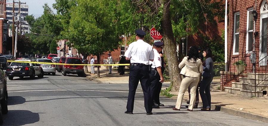 Shooting scene in 600 block of Madison St. in Wilmington (Photo: Delaware Free News)