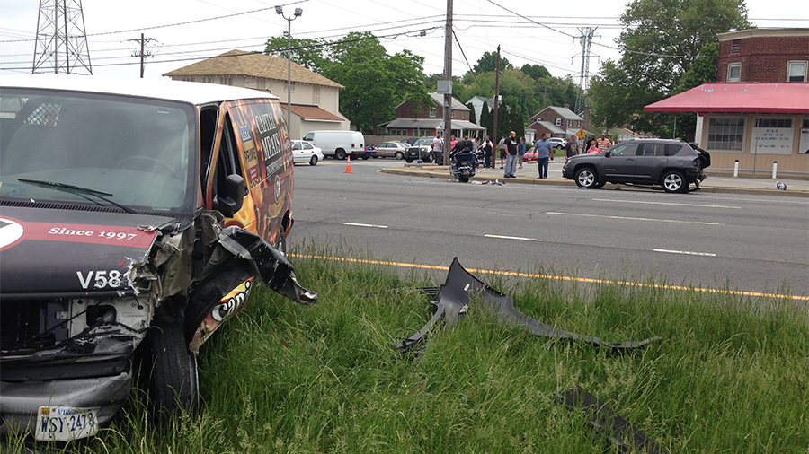 Accident on U.S. 13 at Stahl Avenue near New Castle (Photo: Delaware Free New)