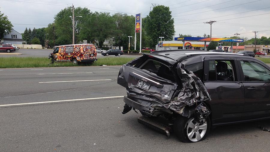 Crash on U.S. 13 (North DuPont Highway) at Stahl Avenue (Photo: Delaware Free News)