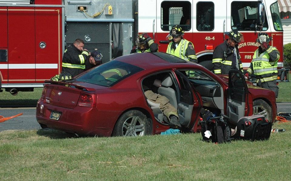 Barratt's Chapel Road crash Dodge Charger