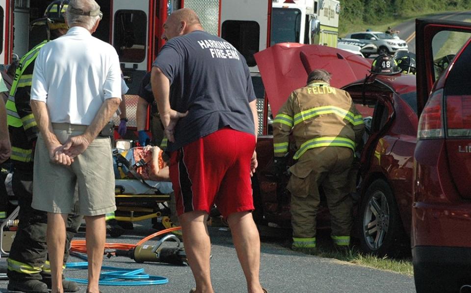 Barratt's Chapel Road crash Harrington EMS