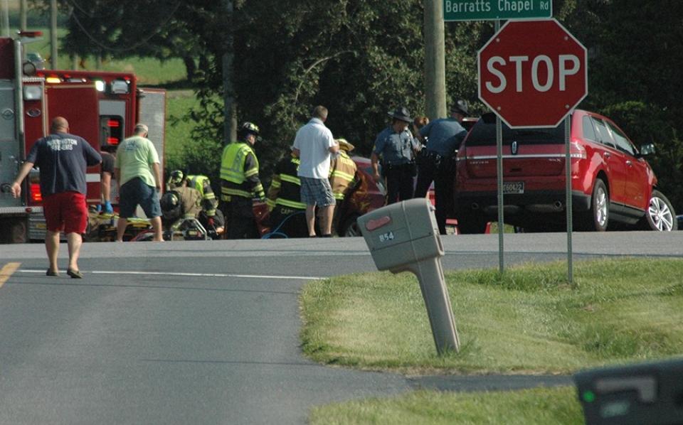 Barratt's Chapel Road crash overview