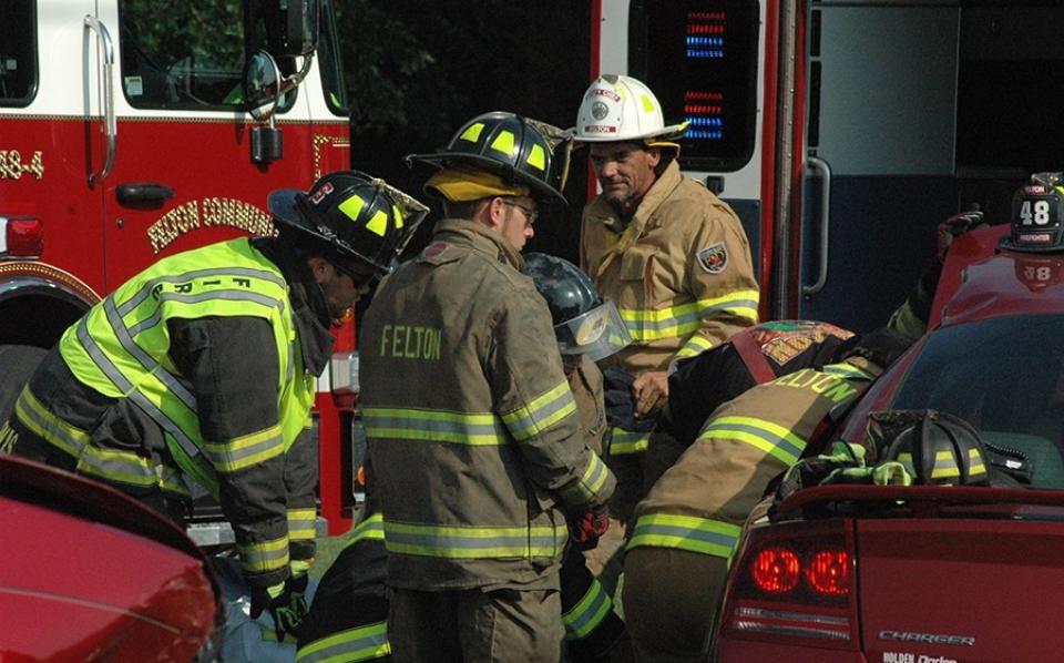 Barratt's Chapel Road crash rescue