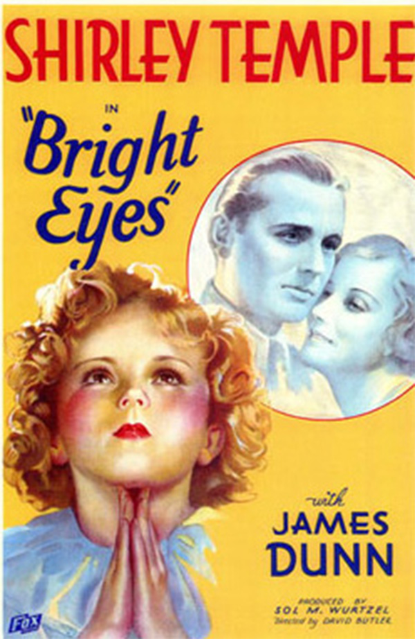 a poster for the movie bright eyes