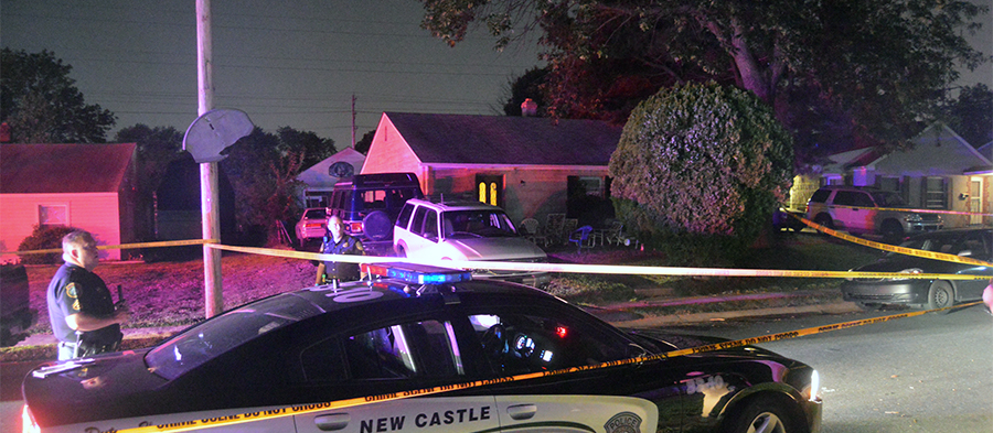 Shooting scene in Collins Park neighborhood near New Castle (Photo: Delaware Free News)