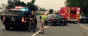 Scene of fatal pedestrian accident on U.S. 13 (Photo: Delaware Free News)
