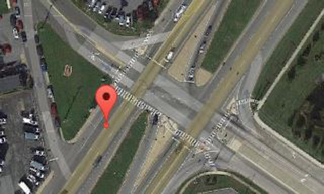 Police said man struck by cruiser was crossing 50 feet south of marked pedestrian crosswalk. (Photo: Google maps)
