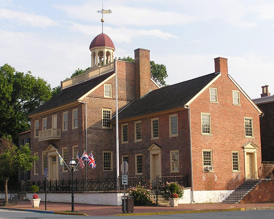 New Castle Court House (Photo: Delaware Division of Historical and Cultural Affairs}